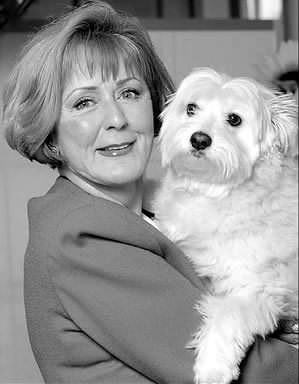 Florence Rita Rickards with her dog Sasha